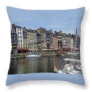 Honfleur - France Throw Pillow