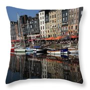 Honfleur Harbour France Throw Pillow