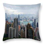 Hong Kong After Rain Throw Pillow