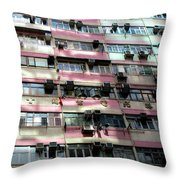 Hong Kong Apartment 18 Throw Pillow