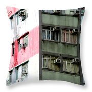 Hong Kong Apartment 3 Throw Pillow