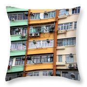Hong Kong Apartment 9 Throw Pillow