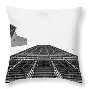 Hong Kong Building Black And White Throw Pillow