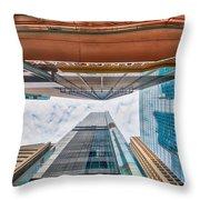 Hong Kong Buildings Colour Throw Pillow