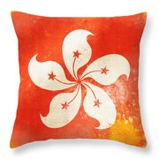 Hong Kong China Flag Throw Pillow by Setsiri Silapasuwanchai