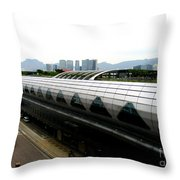 Hong Kong Cruise Terminal 2 Throw Pillow