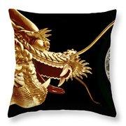 Hong Kong Dragon  Throw Pillow