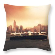 Hong Kong Harbour 01 Throw Pillow