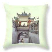 Hong Kong Pagoda Throw Pillow