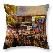 Hong Kong Streets Throw Pillow