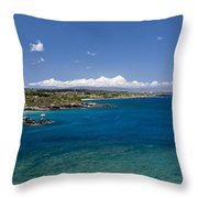 Honolua Bay Throw Pillow by Jim Thompson