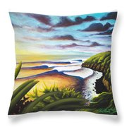 Honolua Bay Throw Pillow