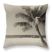 Honolulu Beach Throw Pillow
