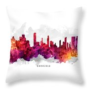 Honolulu Hawaii Cityscape 14 Throw Pillow