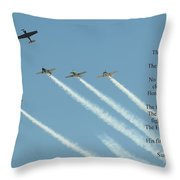 Honor Flight- Missing Man Formation Throw Pillow