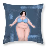 Honor My Curves Throw Pillow