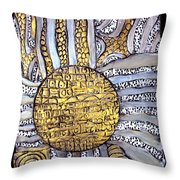 Honor To The Sun Throw Pillow