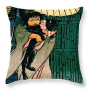 Honorable Mr. Cat 1903 Throw Pillow