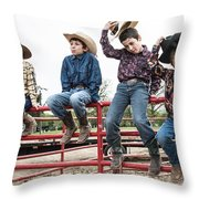 Honoring A Fallen Cowboy Throw Pillow