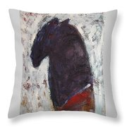 Honoring Red Cloud Throw Pillow by Johanna Elik