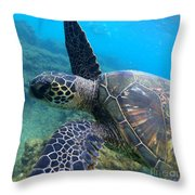 Honu Hello Throw Pillow