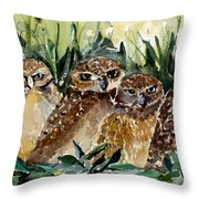 Hoo Is Looking At Me? Throw Pillow
