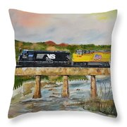 Hooch - Chattahoochee River - Columbus Ga Throw Pillow
