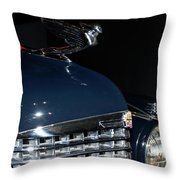 Hood Ornament-1938 Cadillac V-16 Town Sedan Throw Pillow