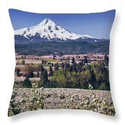 Hood River Orchards Throw Pillow