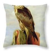 Hooded Falcon Throw Pillow by Sir Edwin Landseer
