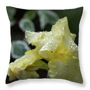 Hooded Iris Throw Pillow