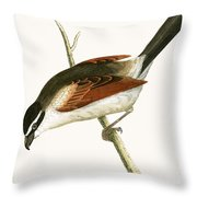 Hooded Shrike Throw Pillow