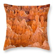 Hoodoos And Other Eroded Cliffs Light Throw Pillow