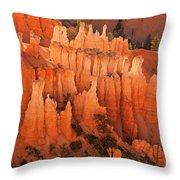 Hoodoos At Sunrise Bryce Canyon National Park Utah Throw Pillow