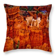Hoodoos Bryce Canyon Throw Pillow