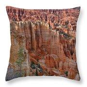 Hoodoos Bryce Canyon-utah Throw Pillow
