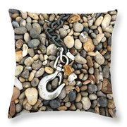Hook, Chain And Pebbles Throw Pillow