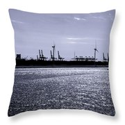 Hook Of Holland Shipping Canal Throw Pillow
