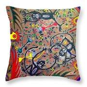 Hookah Monkeys - Jinga Monkeys Series Throw Pillow