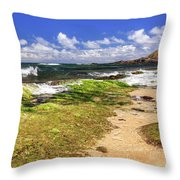Ho'okipa Beach Maui Throw Pillow
