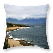 Hookipa Beach Maui North Shore Hawaii Throw Pillow