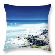 Hookipa Blue Sensation Throw Pillow