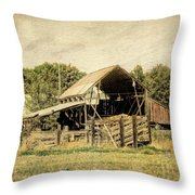 Hooper Hay Shed Throw Pillow by David King