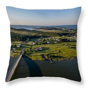 Hoopers Island By Air Throw Pillow