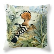 Hoopoe Throw Pillow by Edouard Travies