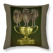 Hoo's On First Throw Pillow