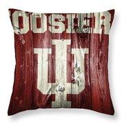 Hoosiers Barn Door Throw Pillow