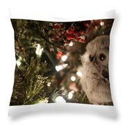 Hooty Owl Throw Pillow