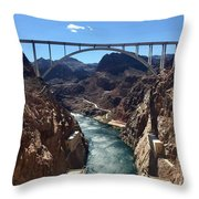 Hoover Dam Bridge Throw Pillow