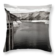 Hoover Dam Intake Towers #2 Throw Pillow